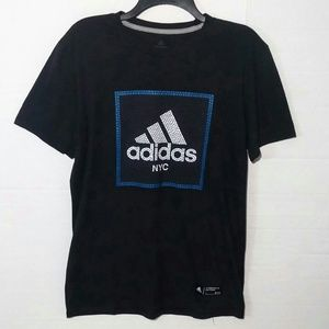 Adidas Go-To Performance Tee NYC Tile Graphic Grid